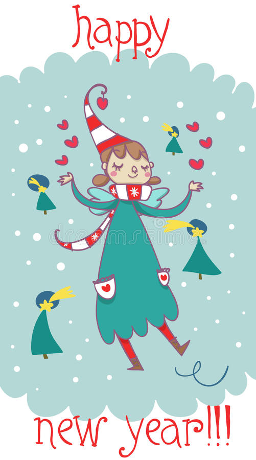 Download Happy New Year Cartoon Fairy Stock Illustration - Image: 28220665