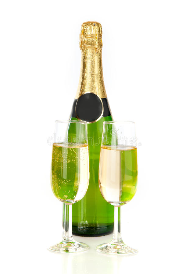 Happy New Year. !, celebrating new year with champagne stock images