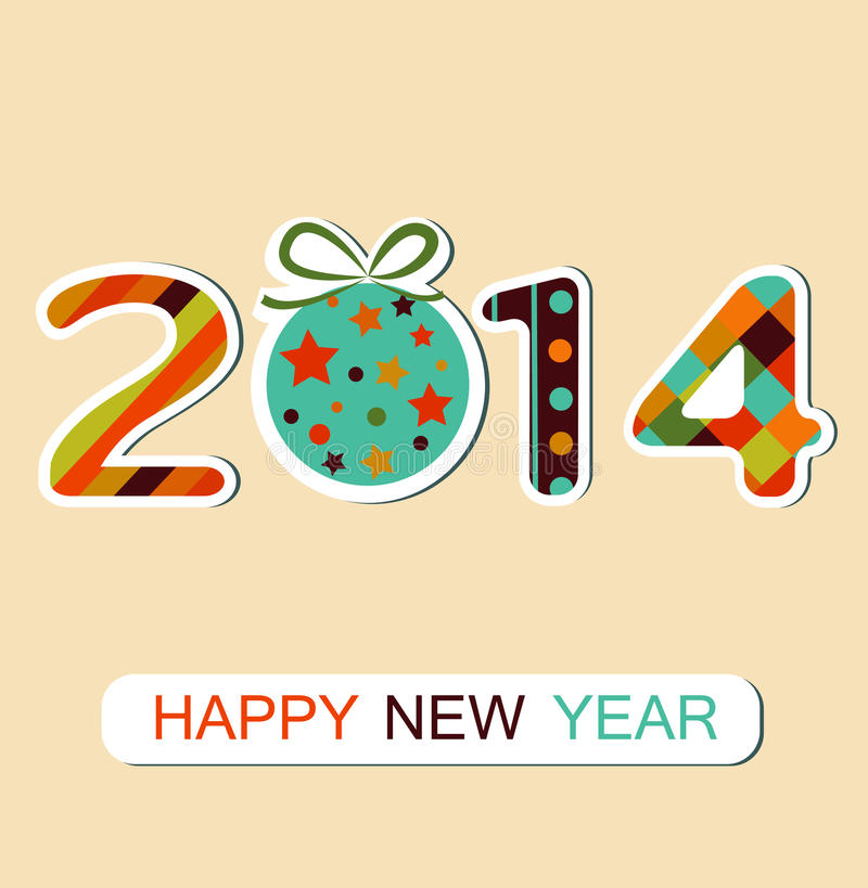 Happy New Year 2014 celebration background. Vector. Happy New Year 2014 celebration background. Can be use for stickers. Vector stock illustration