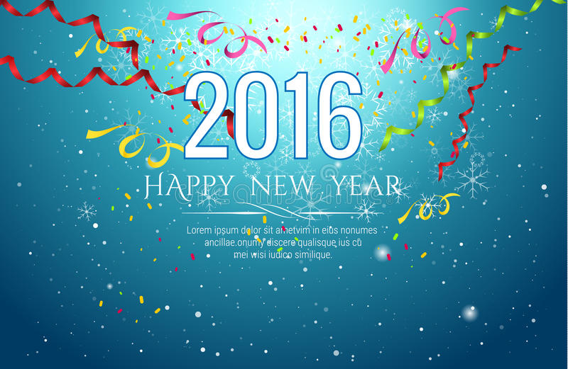 2016 happy new year Celebration background vector illustration vector illustration