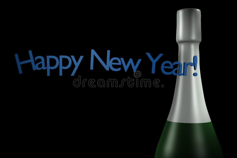 Happy new year - champagne royalty free stock images