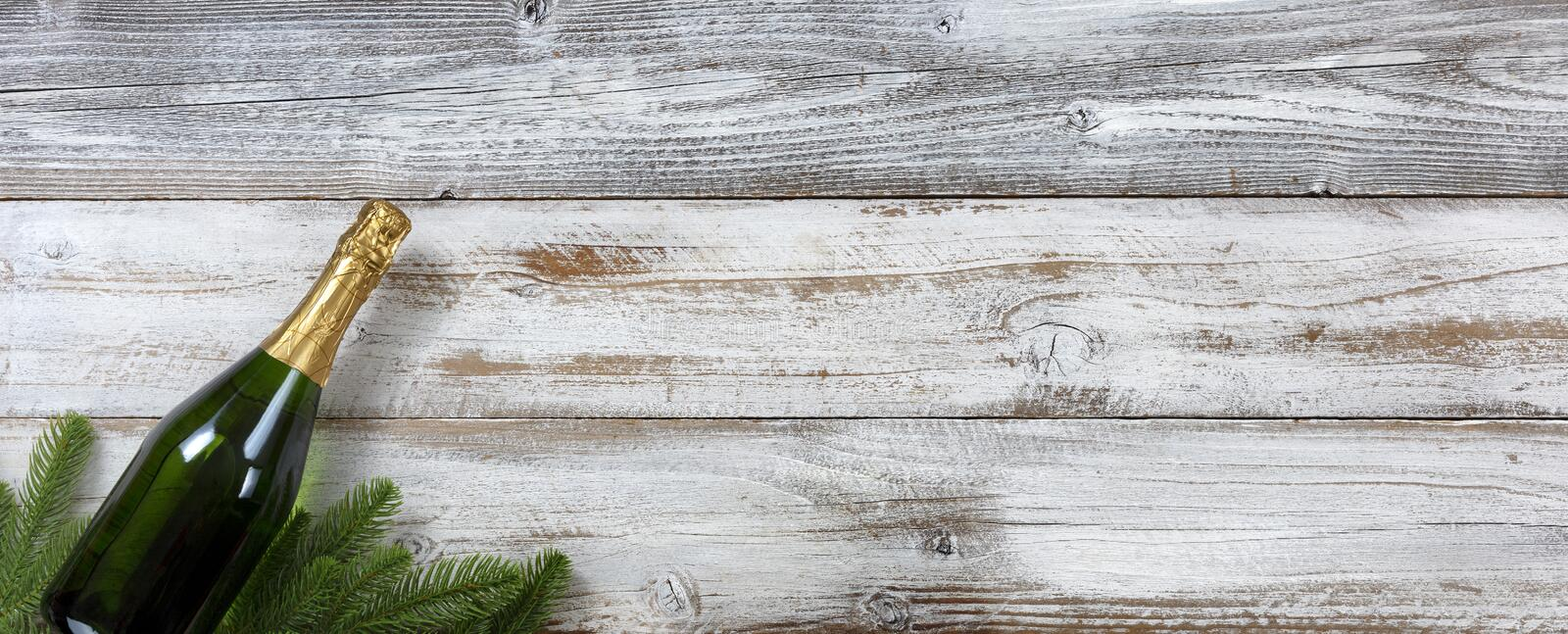 Happy New Year and Christmas concept on white wood for the winter holidays. Happy New Year and Christmas concept on white rustic wood for the winter holidays royalty free stock photos