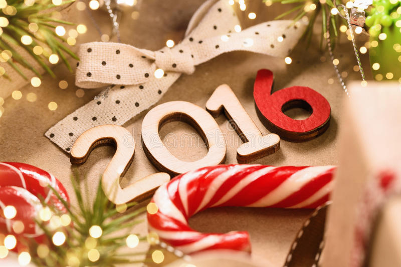 Happy 2016 New Year stock images
