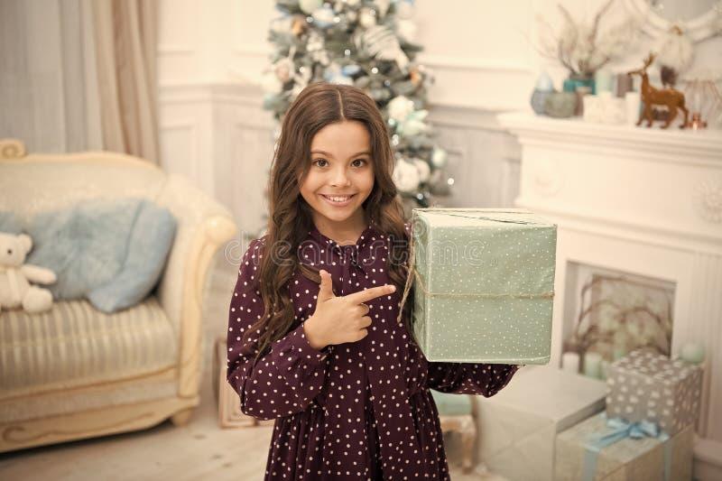 Happy new year. Christmas. Kid enjoy holiday. small happy girl at christmas. morning before Xmas. Christmas composition. New year holiday. little child girl royalty free stock image