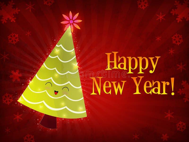 Download Happy New Year, Christmas Tree Stock Illustration - Illustration: 7392401