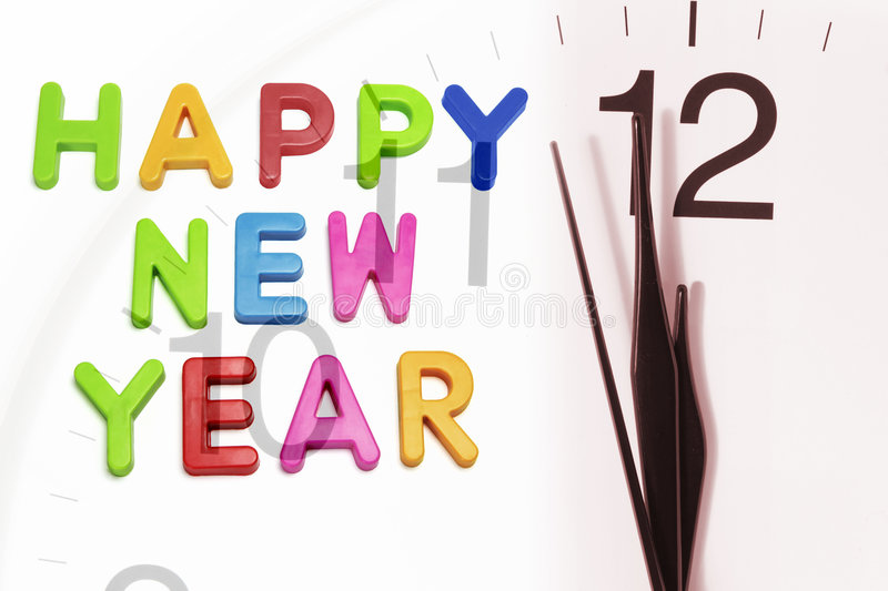Download Happy New Year and Clock stock image. Image of life, festival - 3684375