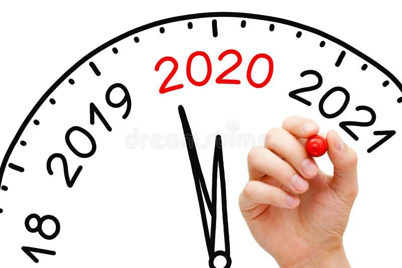 Happy New Year 2020 Clock Concept stock photos