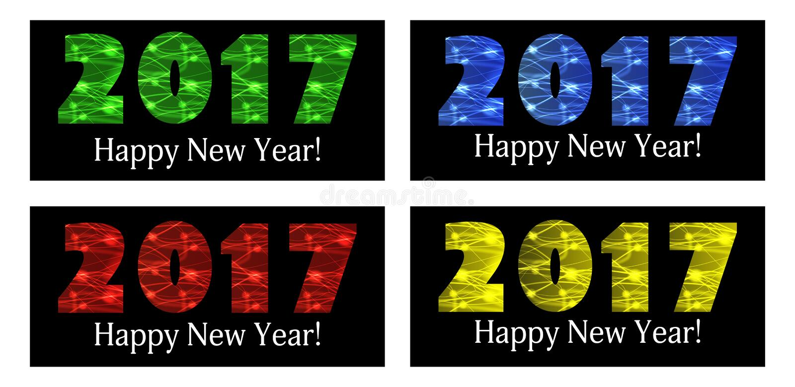 2017 Happy New Year. Color background. Vector vector illustration