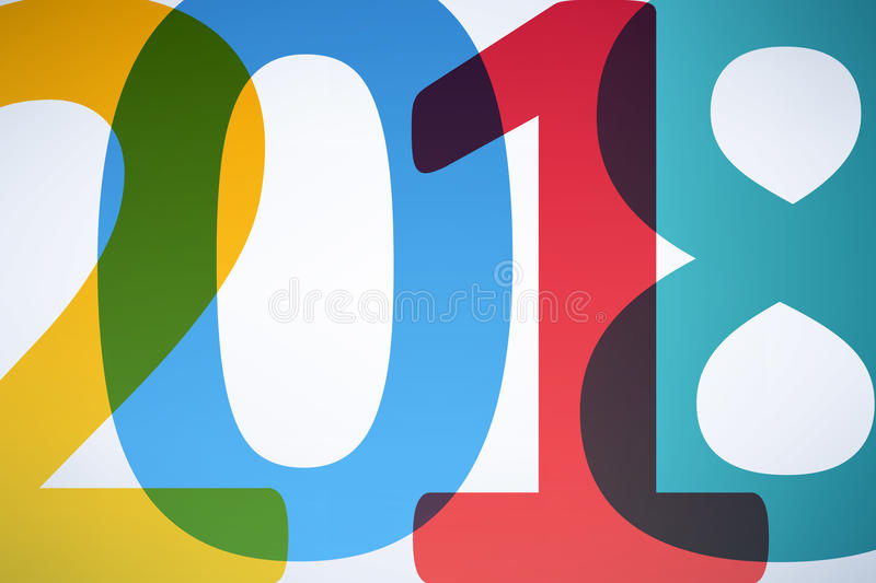 Calendar Typography Year : Happy new year colorful background stock vector