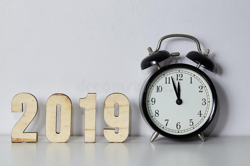 Happy New Year 2019 concept stock image