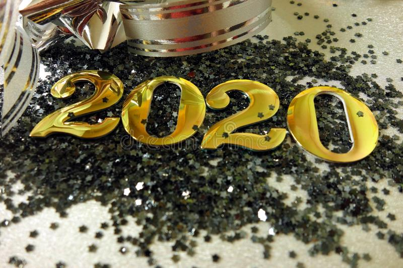 Happy New Year 2020. Concept background royalty free stock images