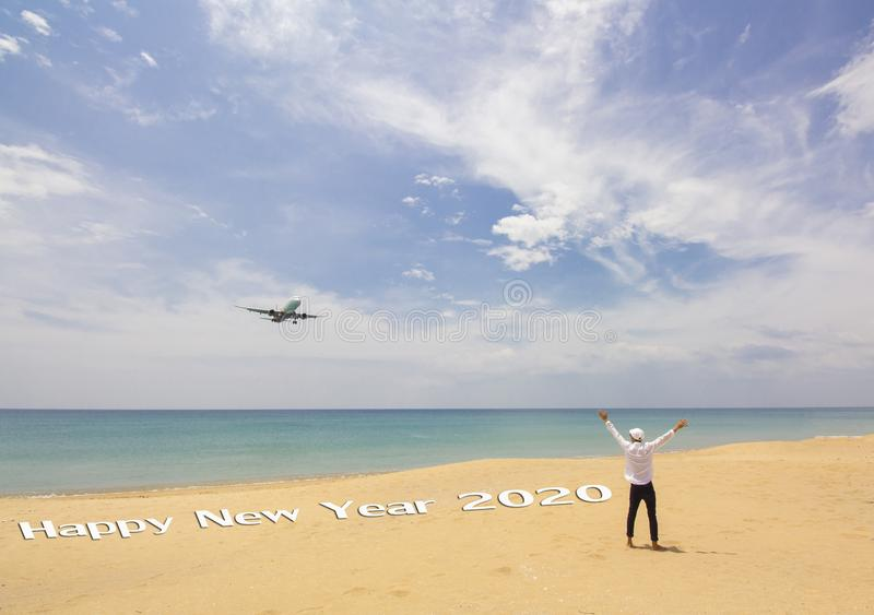 Happy New Year 2020 concept stock photography