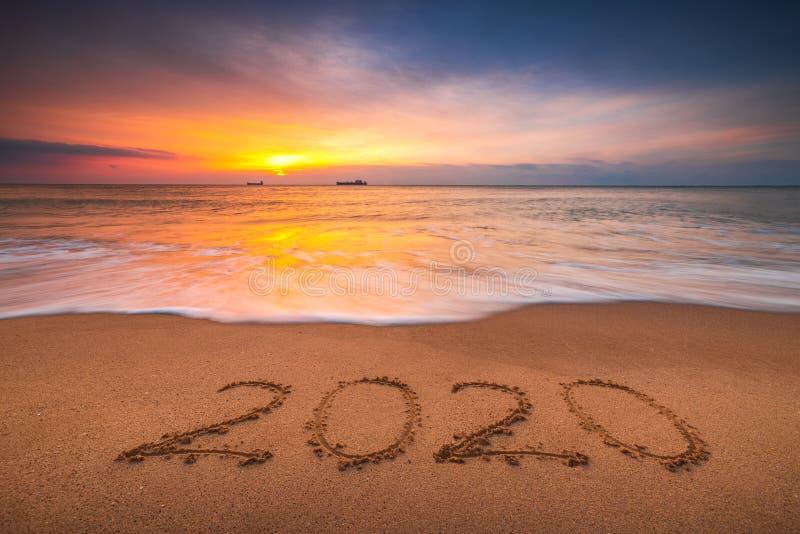 Happy New Year Beach Sunrise Stock Photos Download 266