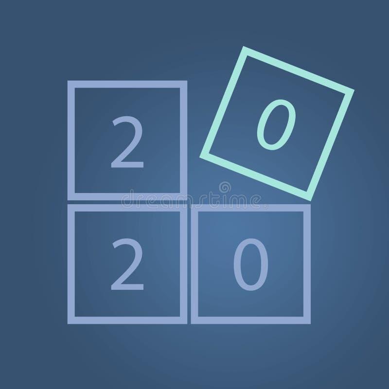 Happy New Year 2020 Concept Series illustrazione di stock