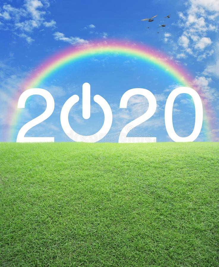 Happy new year 2020 concept stock image