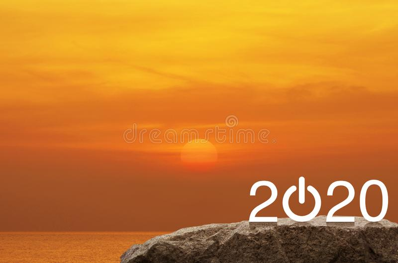 Happy new year 2020 concept royalty free stock image