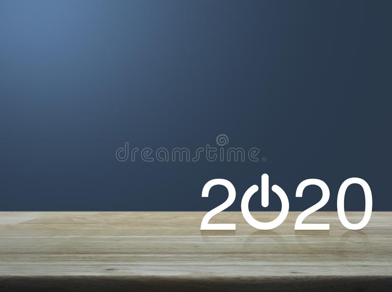 Happy new year 2020 concept royalty free stock photos