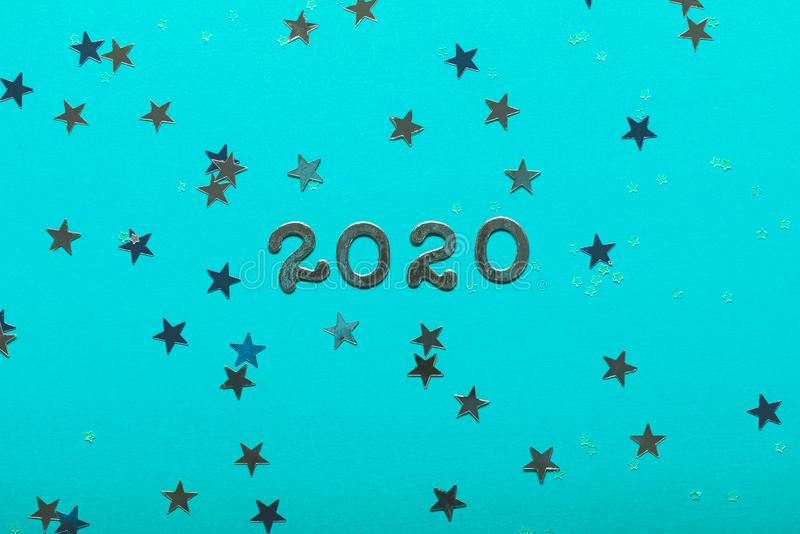 Happy New Year 2020 concept royalty free stock photography