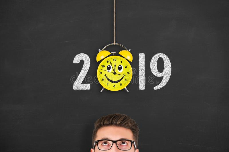 Happy new year concepts 2019 countdown clock. New year concepts royalty free stock photos