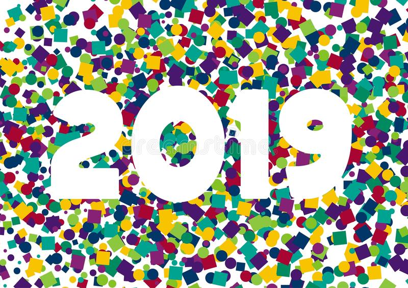 Happy New Year confetti 2019 royalty free stock images