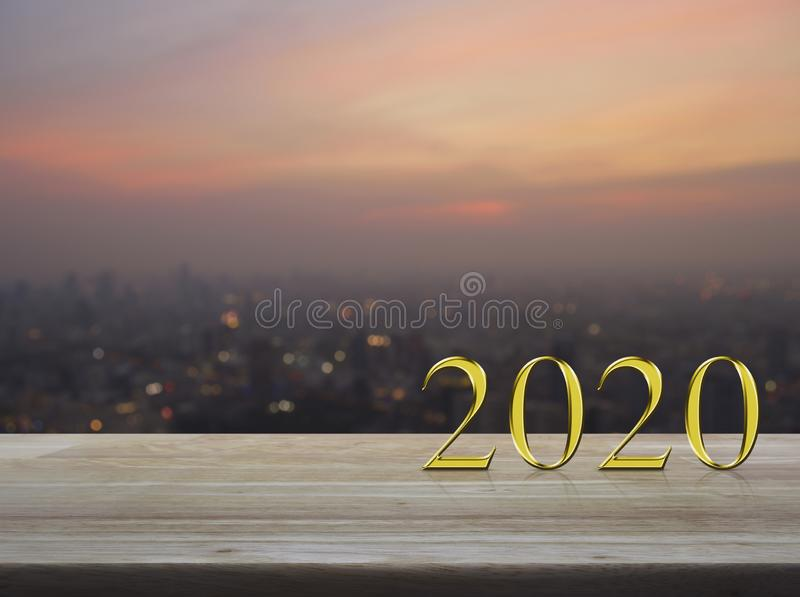 Happy new year 2020 cover concept stock photo