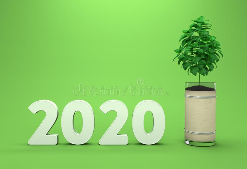 New Year 2020 Creative Design Concept royalty free illustration