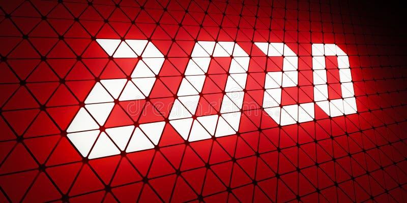 2020 Happy New Year Creative Design Hintergrund lizenzfreie stockbilder
