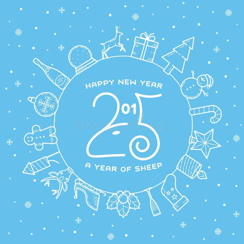 Happy New Year 2015 Creative Greeting Card Design Stock ...