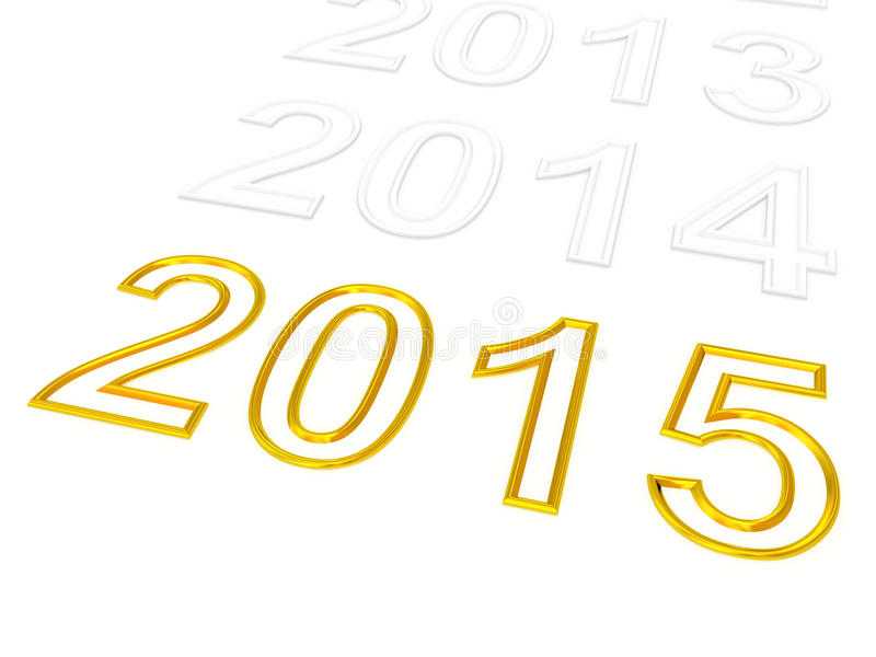 Download Happy New Year 2015 Stock Illustration - Image: 40478901