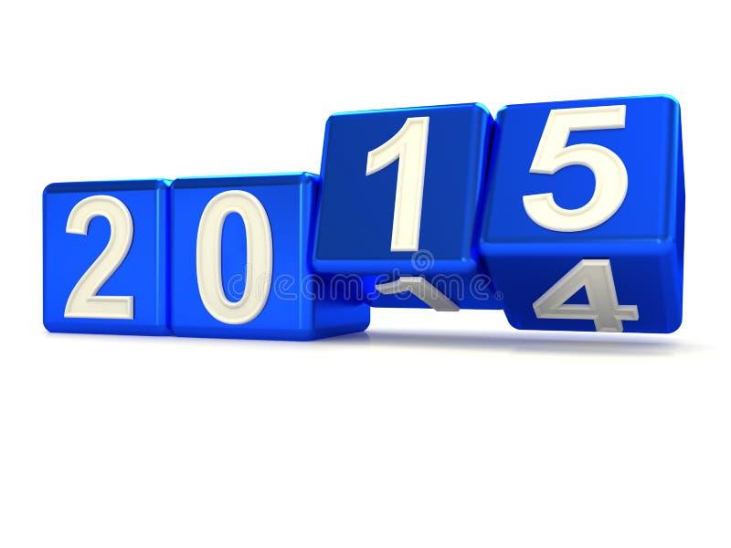 Happy New Year 2015. stock illustration