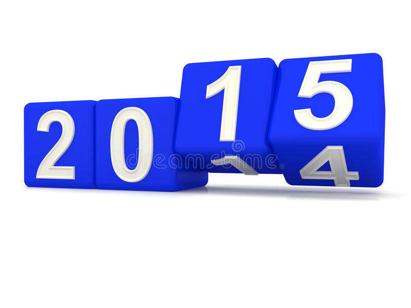 Happy New Year 2015. royalty free illustration