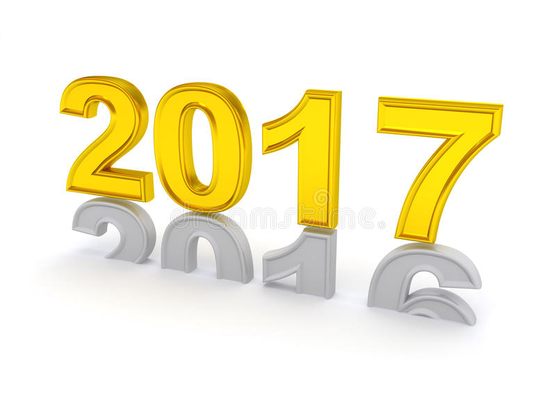 Happy New Year 2017. royalty free illustration