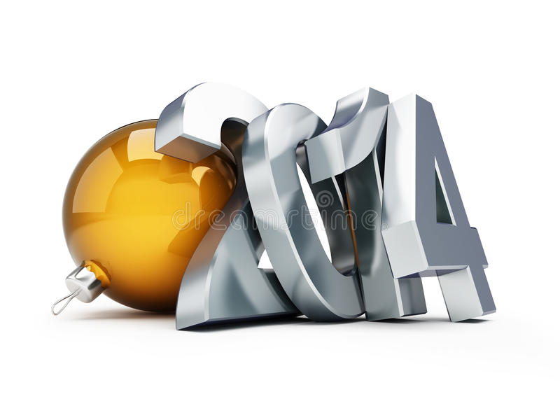 Download Happy new year 2014 stock illustration. Illustration of present - 30643974