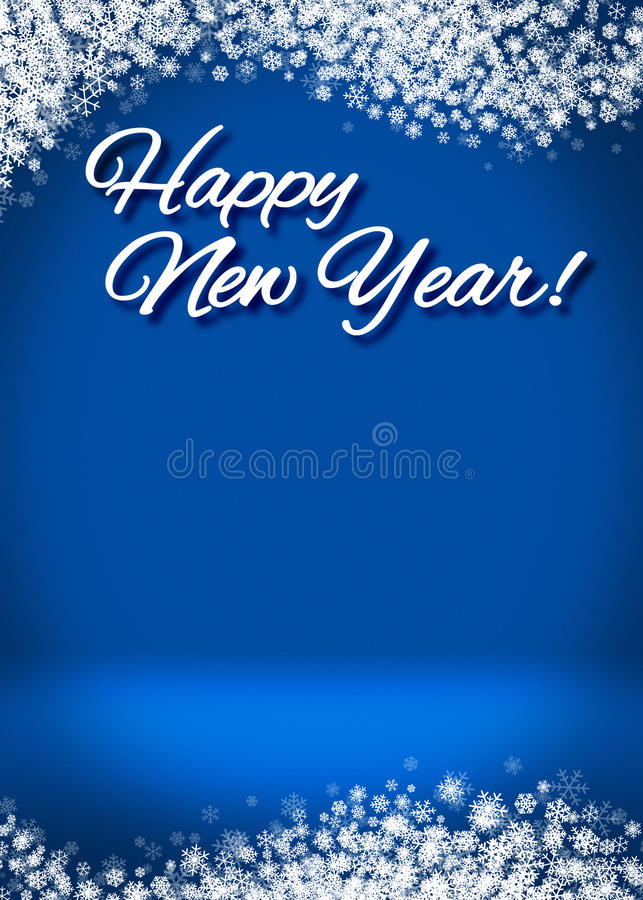Happy New Year 3D Winter Background royalty free stock image