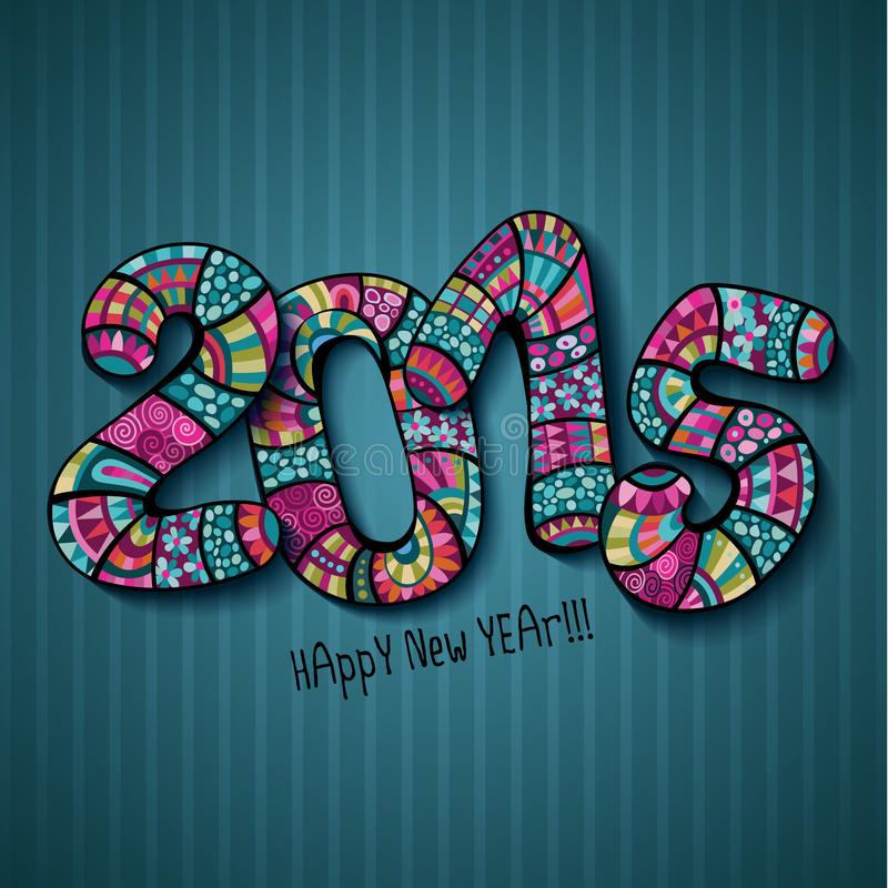 Download Happy New Year 2015 Stock Illustration - Image: 42300800