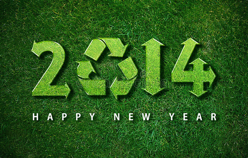Happy New year. 2014, with ecology concept for 2014 year, the same concept available for 2015, 2016 and 2017 year royalty free stock photos
