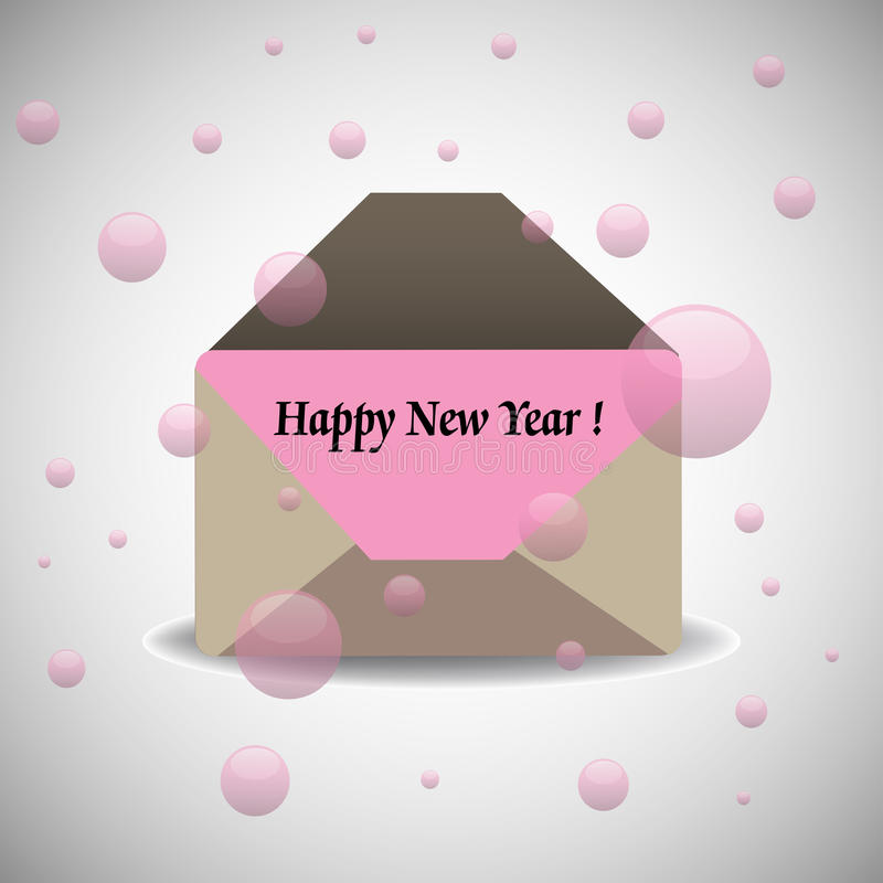 Download Happy New Year envelope stock vector. Image of holidays - 28047419