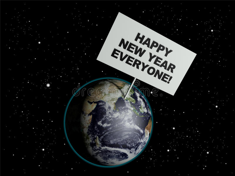 Happy New Year Everyone stock illustration. Illustration ...