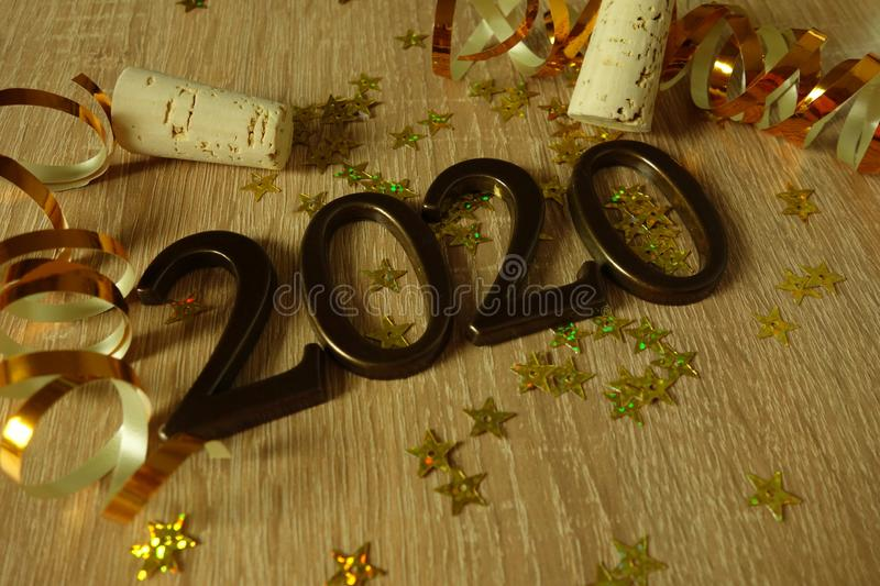 Happy New Year 2020. Festive background stock image