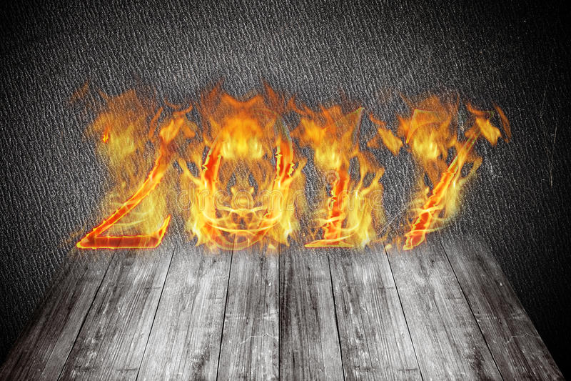Download Happy New Year 2017 - Figures In Flame. Collage Stock Photo - Image of celebration, bonfire: 76153672