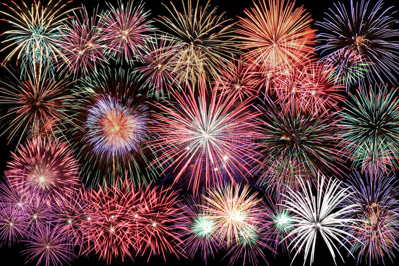 Happy new year firework. As celebrate background royalty free stock photo
