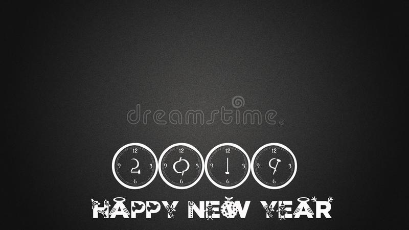 Happy new year firework. Celebration stock illustration