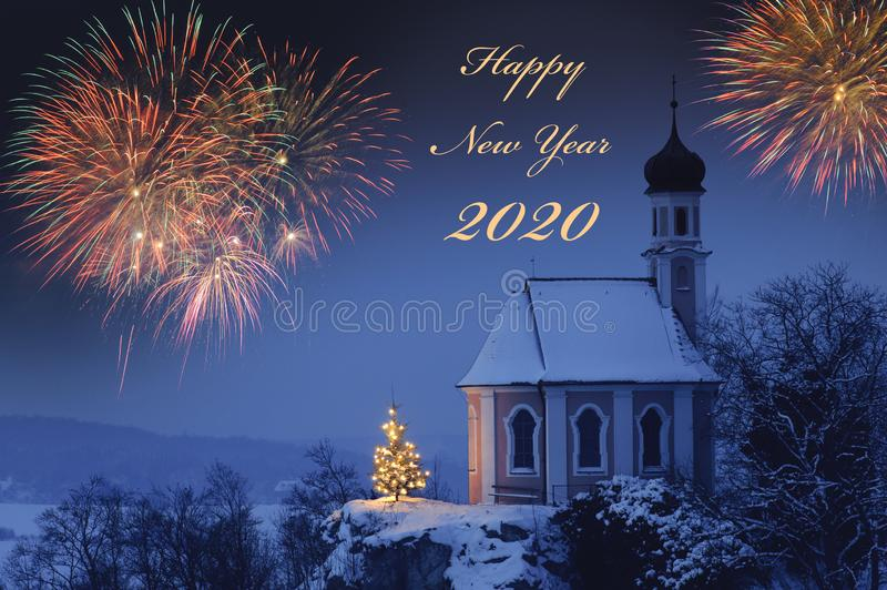 Happy new year 2020 royalty free stock photography