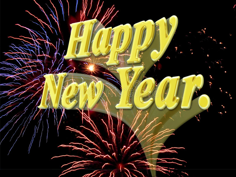 Download Happy New Year With Fireworks. Stock Illustration - Image: 372291