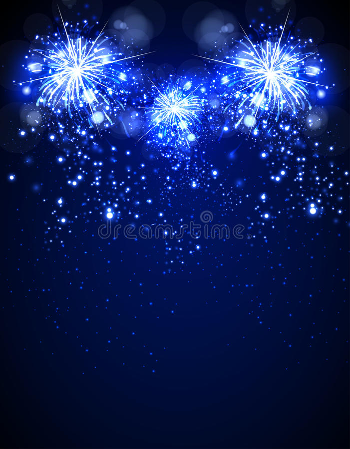 Happy New Year fireworks stock illustration