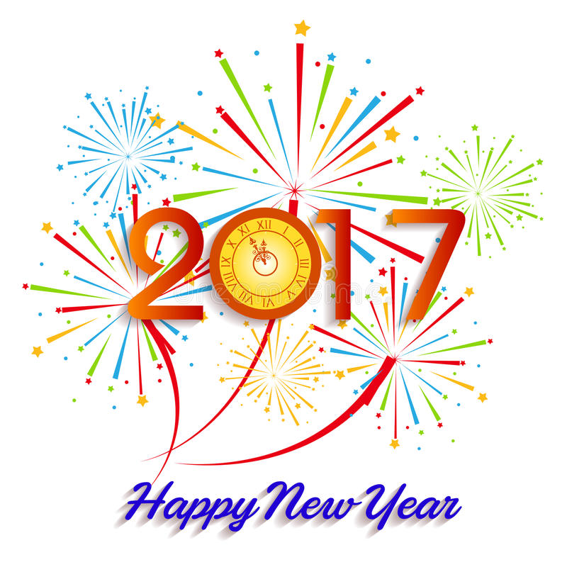 Happy new year 2017 with fireworks display background stock vector download happy new year 2017 with fireworks display background stock vector illustration of brochure voltagebd Gallery