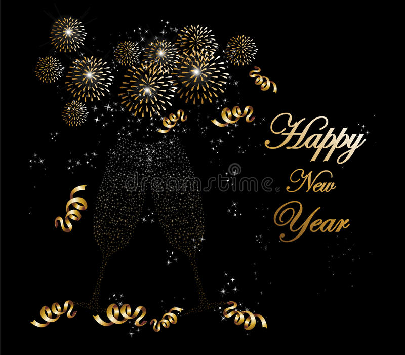 Happy new year 2014 fireworks greeting card stock vector download happy new year 2014 fireworks greeting card stock vector illustration of firework greeting m4hsunfo