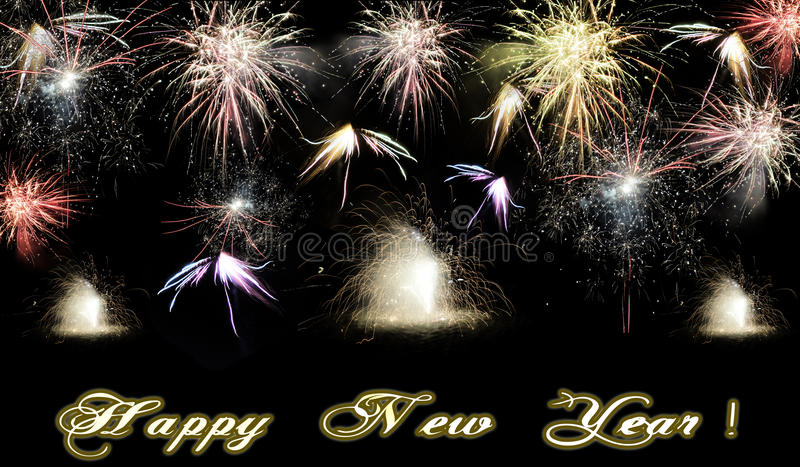 Happy New Year 2017 fireworks royalty free stock photos