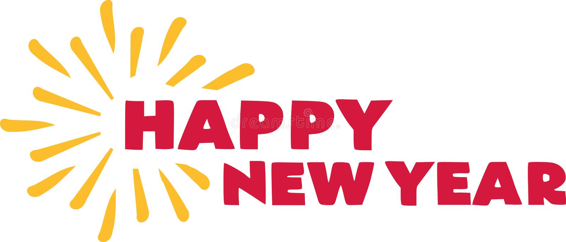 Happy new year. Firework. stock illustration