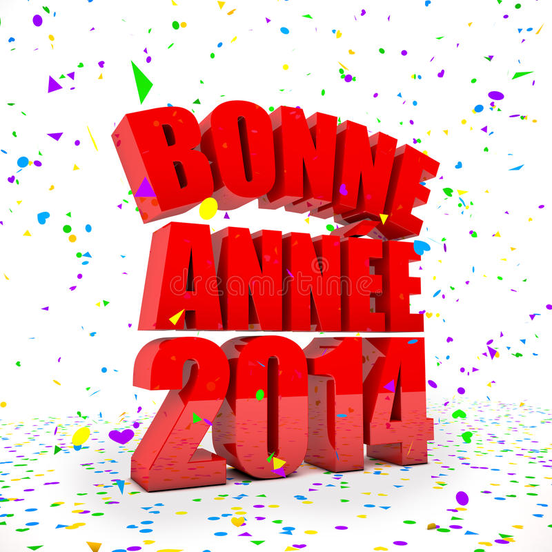 Download Happy New Year 2014 In French Languages Stock Illustration - Image: 33726379